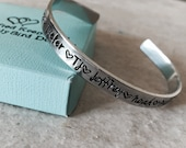 SALE Personalized bracelet with names mothers bracelet with children 39 s names hand stamped custom jewelry mom grandma kids monogrammed