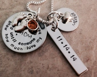 I never knew how much love my heart could hold until someone called me mom necklace personalized necklace mother mom grandma