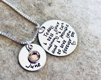 Personalized necklaces step daughter necklace wedding gift for daughter today I tell your mom I do but promise you forever too dad I do