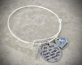 Mum Dad grandad sister son angel wing bracelet your wings were ready ....