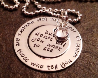The best mentors are those who tell you where to look but not what to see. Teach necklace teacher gift