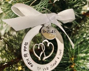 Personalized Christmas ornament we said I do wedding ornament first Christmas ornament wedding gift engagement gift bridal shower holidays