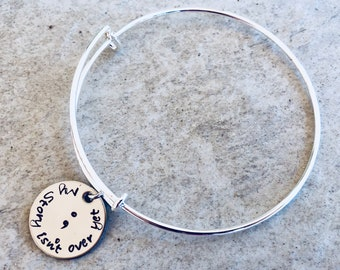 My story isn't over yet bracelet personalized bangle bracelet my story isn't over yet personalized bracelet semicolon bracelet with name