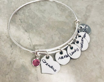 Personalized bracelet with children names personalized gift for mom grandma mothers day gift Christmas gift children names mothers jewelry