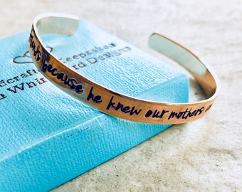 Personalized jewelry God made us friends because he knew our moms couldn't handle us as sisters best friends cousins you complete me sale