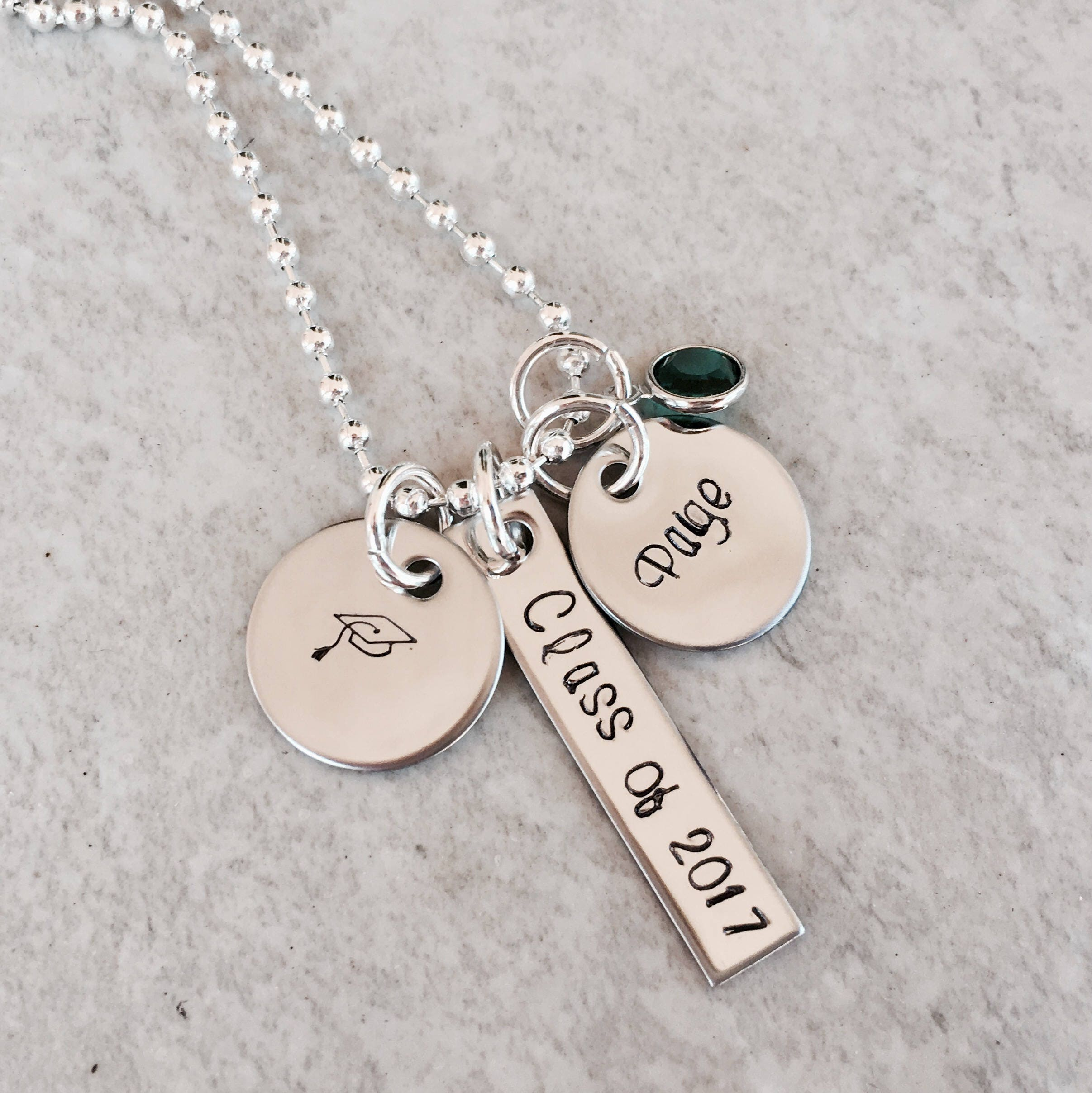 2b17206c28f1a Sale! Graduation necklace class of 2018 personalized graduation gift ...