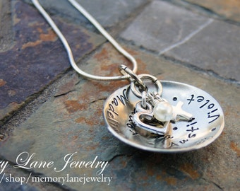 Cupped Charm Necklace