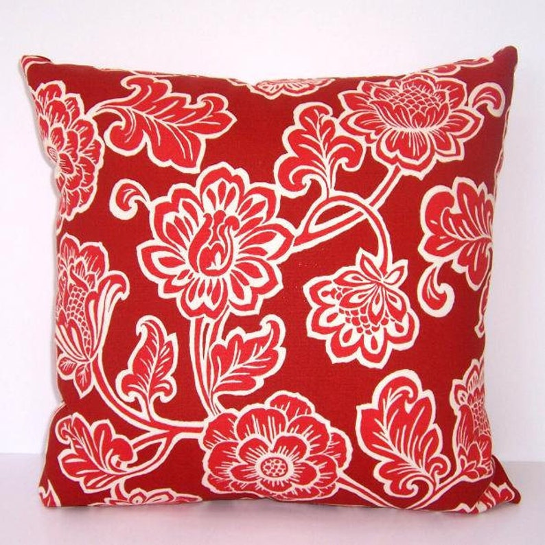 Rust Paisley Outdoor Pillow 16x16 Patio