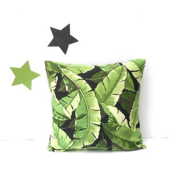 Tropical Leaves Outdoor Pillow Cover Sized 18x18 Solarium Etsy