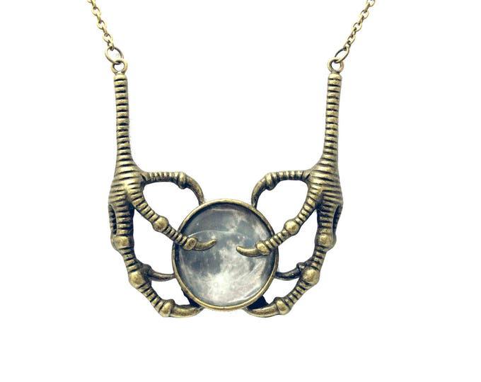 Large Talon Full Moon Necklace