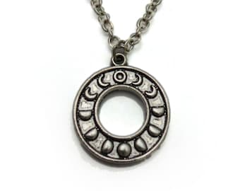 Moon Phase Charm Necklace