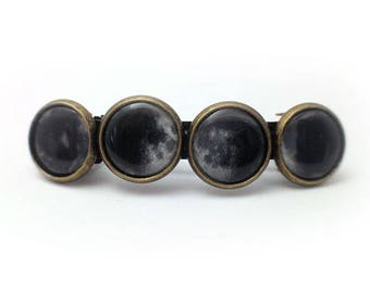 Moon Phase Bronze Barrette