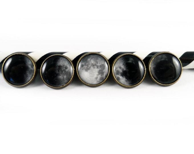 Moon Phase Button Set (5)