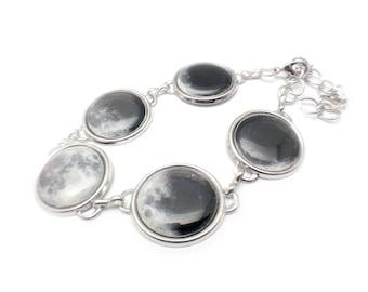 Moon Phase Bracelet, Large