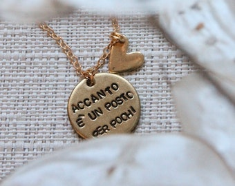 Tag round necklace