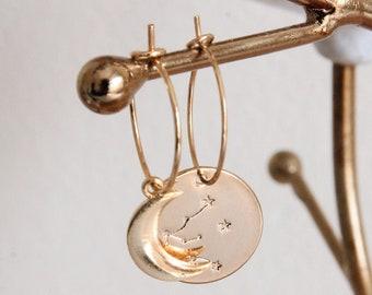 Constellation earrings Acquario