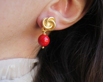 Little red earrings