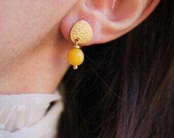 Little yellow earrings