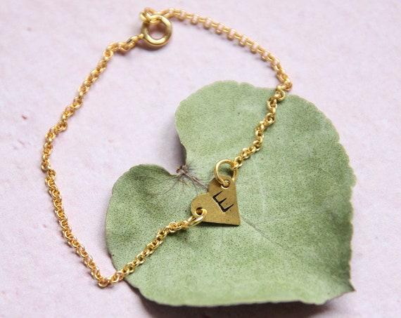 Hearts bracelet handstamped jewelry engraved bracelet