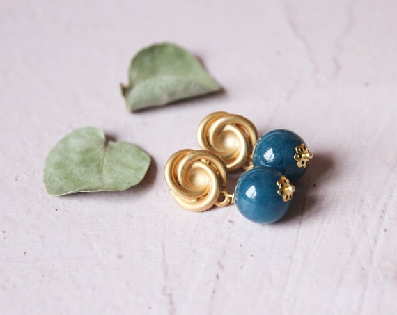 Blue earrings made in italy