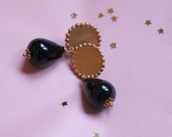 Onyx earrings, black jewels