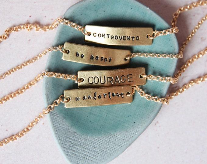 Featured listing image: Tag bracelet, bar bracelet