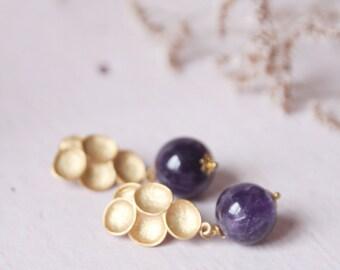 Amethista earrings