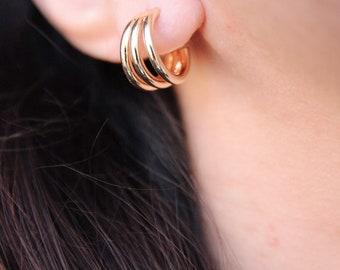 Triple earrings