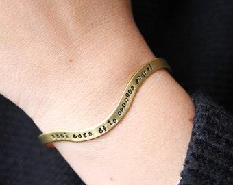 Personalized handstamped bracelet 4mm