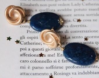 Blue agate earrings