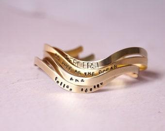 Handstamped bracelet 4mm