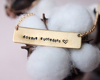 Bar tag necklace, engraved jewelry READY TO SHIP