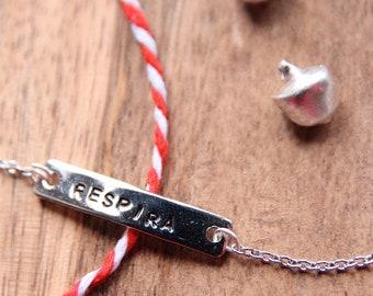 Little steel tag bracelet