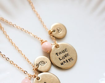 Double tag necklace, engraved jewelry