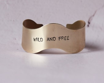 Personalized handstamped bangle