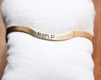 READY TO SHIP handstamped bracelet 4mm