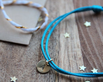 Personalized Initial bracelet | Handstamped jewels | Made in Italy