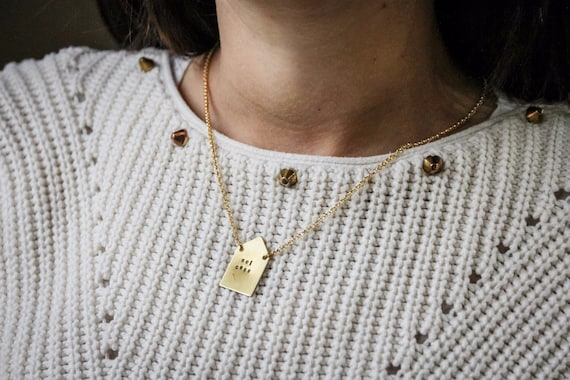 Engraved little home necklace