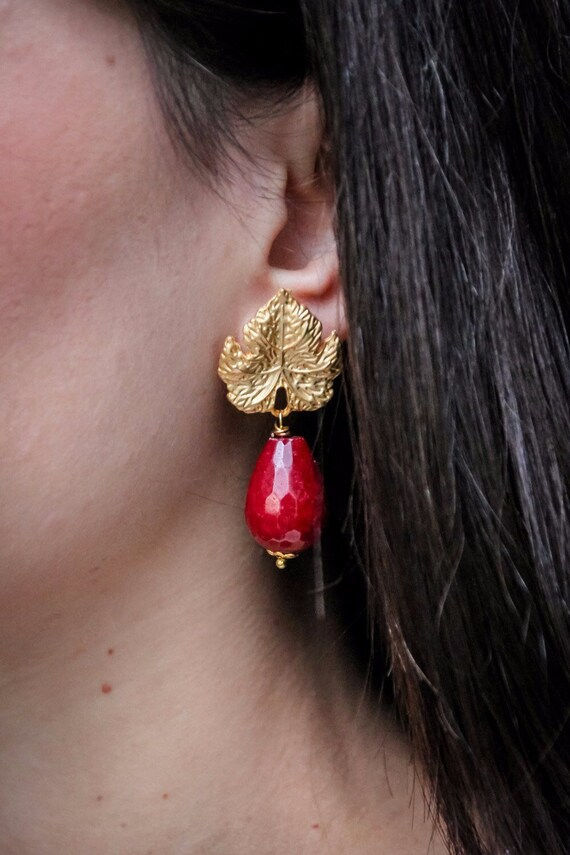 Bordeaux earrings