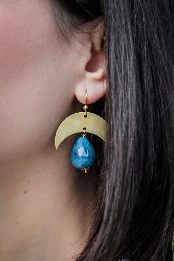 New moon earrings