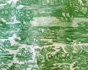 Green COTTON TOILE FABRIC - 4 yards