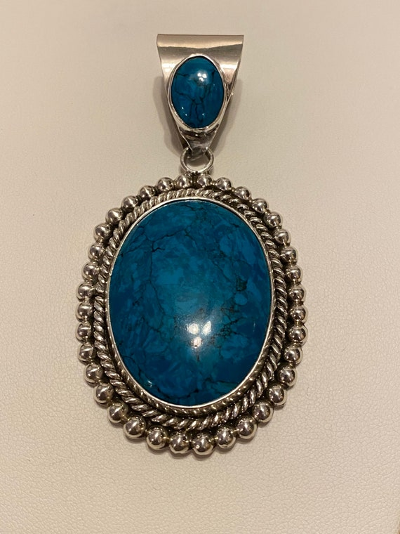 Vintage Sterling and Turquoise Pendant