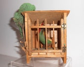 Vintage German Chicken Coop Squeaker - Putz, Toy