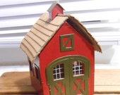 Vintage Wood Putz 5 quot Train or Christmas German Cottage Barn