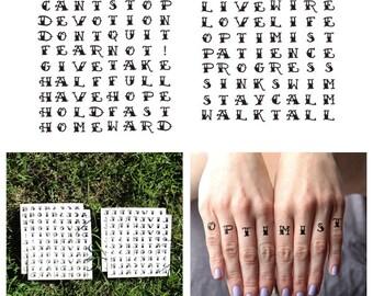 Optimist - Temporary Tattoo (Set of 19)