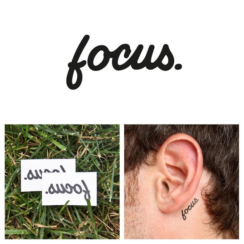 Quotes  Focus  Temporary Tattoo Set of 2 image 0