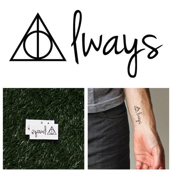 Harry Potter Always Temporary Tattoo Set Of 2 Etsy