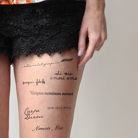 Live Fast Die Young Temporary Tattoo Pack Set Of 14