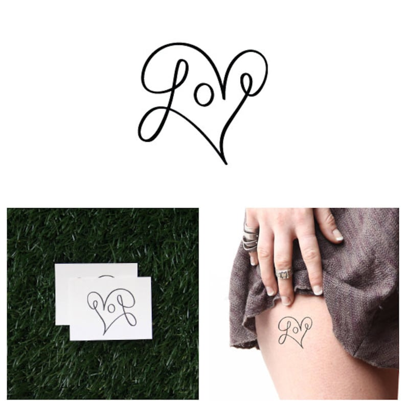 Loop De Loop  Temporary Tattoo Set of 2 image 0