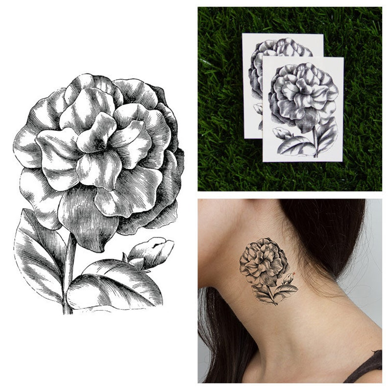 f30092438 Tattify Petunia Temporary Tattoo Petun-yeah Set of 2 | Etsy